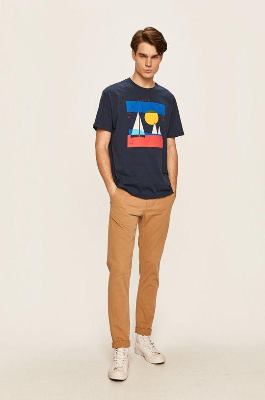 Pepe Jeans - Pánske tričko Montana tmavomodrá