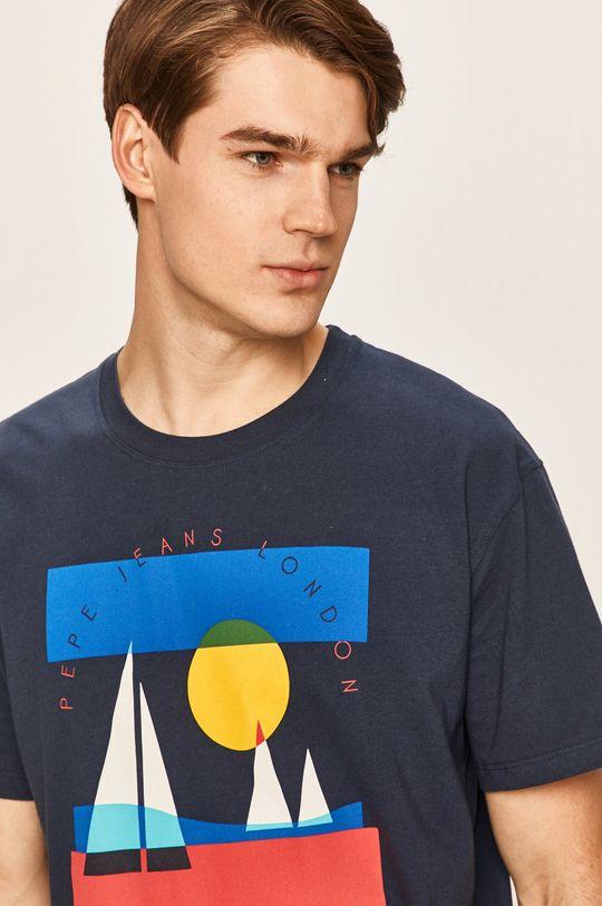 tmavomodrá Pepe Jeans - Pánske tričko Montana