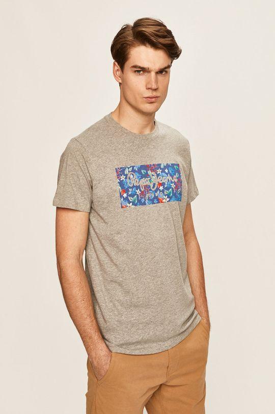 sivá Pepe Jeans - Pánske tričko Morton Pánsky