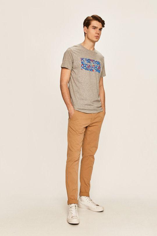 Pepe Jeans - Pánske tričko Morton sivá