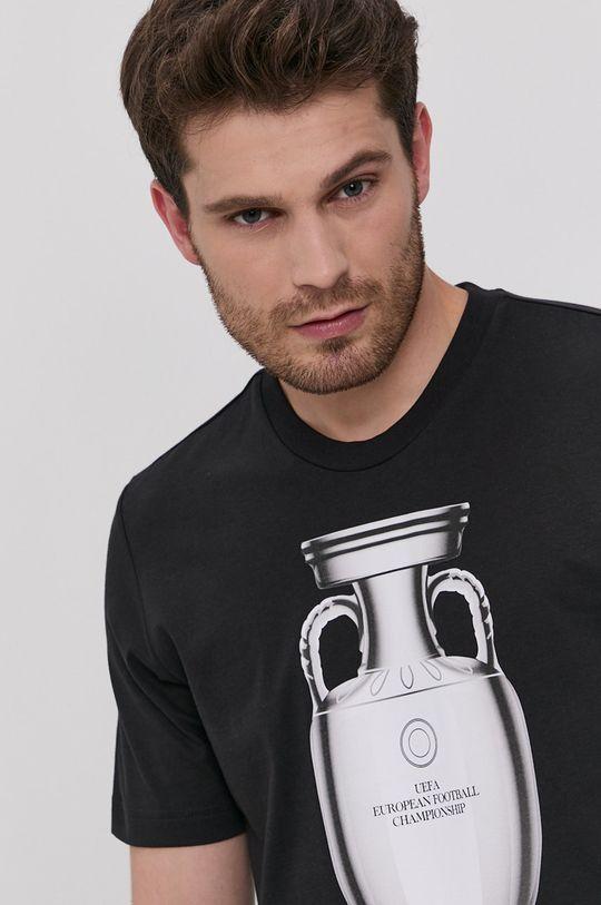 czarny adidas Originals - T-shirt UEFA Emblem