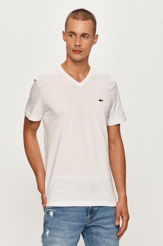 biela Lacoste - Tričko Pánsky