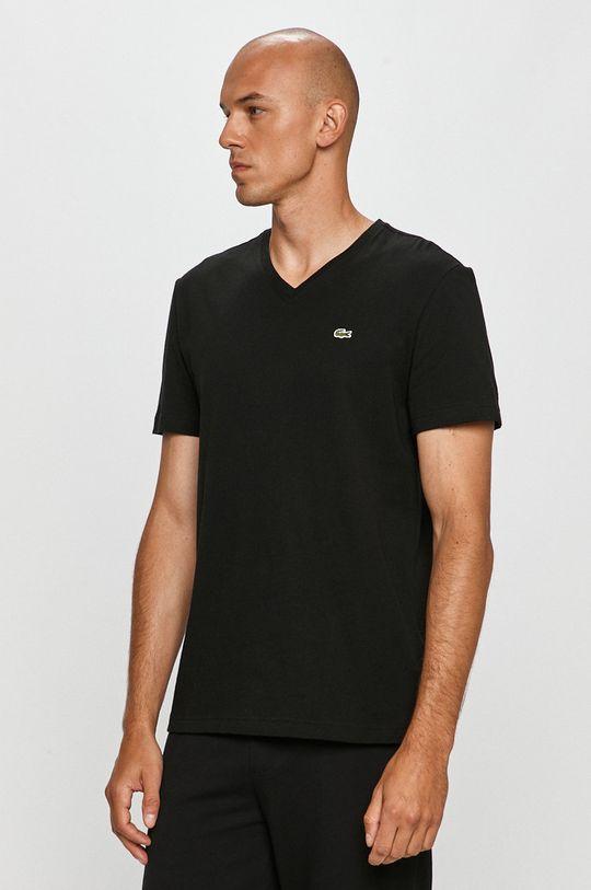 čierna Lacoste - Tričko Pánsky
