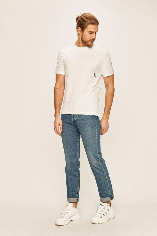 Calvin Klein Jeans - Pánske tričko CK One biela