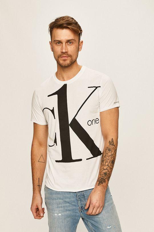 biela Calvin Klein Jeans - Pánske tričko Pánsky