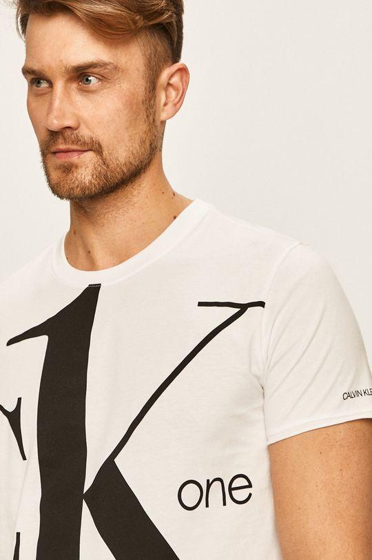biela Calvin Klein Jeans - Pánske tričko