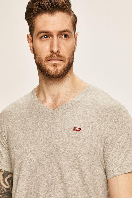 svetlosivá Levi's - Pánske tričko Pánsky