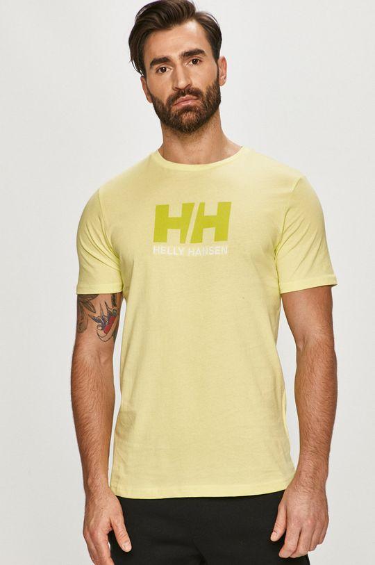 žlutě zelená Helly Hansen - Tričko Pánský
