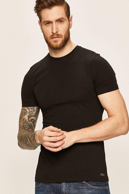 negru Fila - Tricou De bărbați