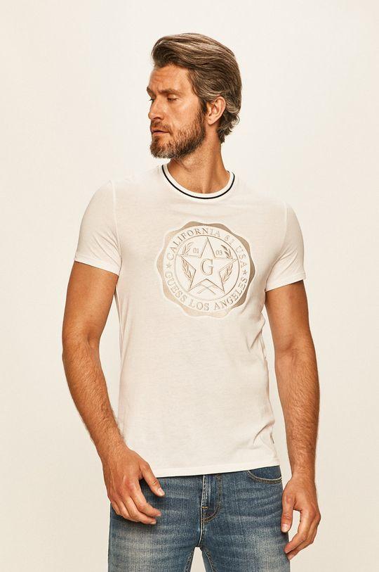 bílá Guess Jeans - Tričko Pánský