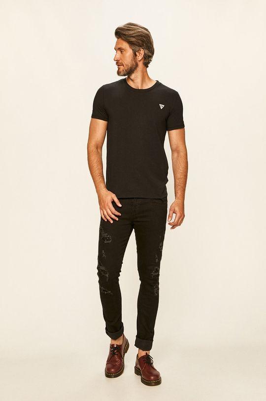 Guess Jeans - Tričko černá