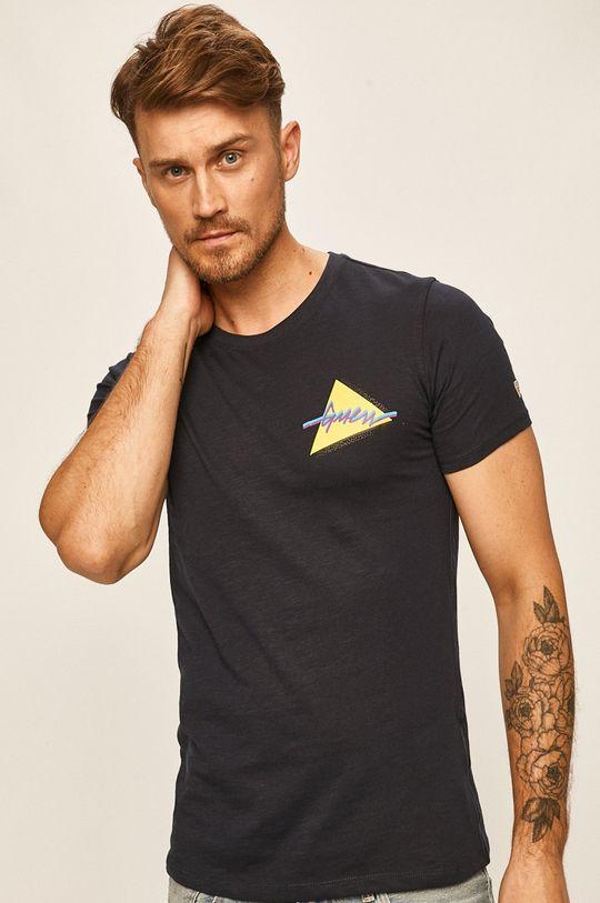 námořnická modř Guess Jeans - Tričko Pánský