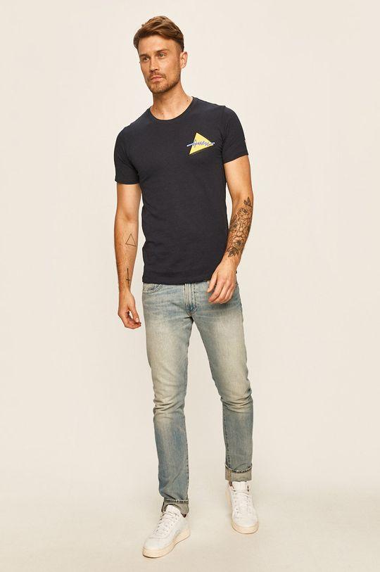 Guess Jeans - Tričko námořnická modř