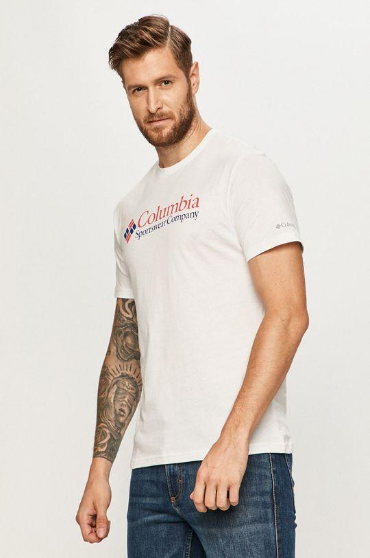 biały Columbia - T-shirt Męski