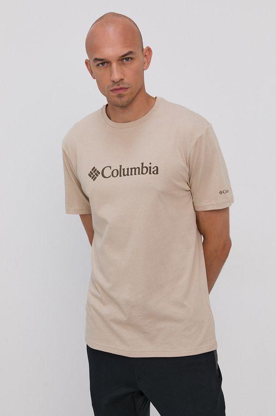 piaskowy Columbia - T-shirt Męski