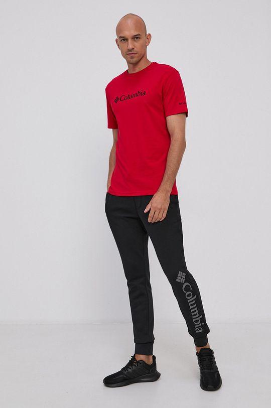 czerwony Columbia - T-shirt Męski