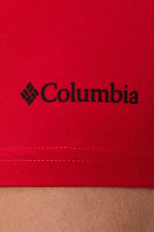 czerwony Columbia - T-shirt