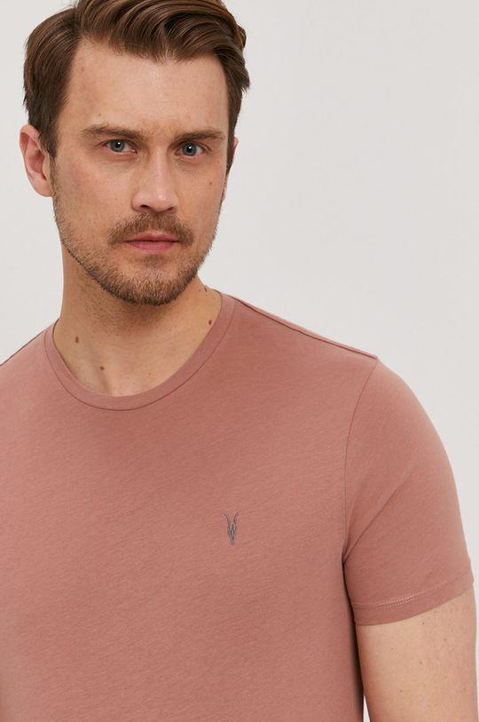 brudny róż AllSaints - T-shirt Męski