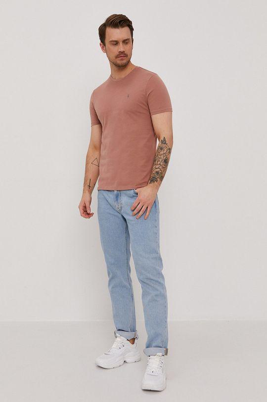 AllSaints - T-shirt brudny róż