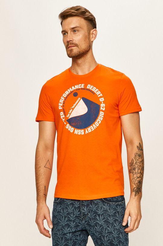 oranžová Tom Tailor Denim - Tričko Pánský