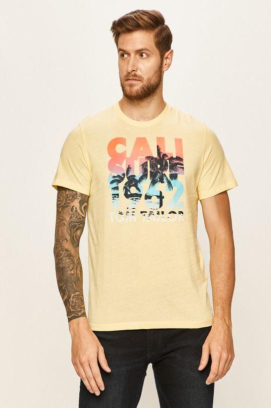 žlutá Tom Tailor Denim - Tričko Pánský