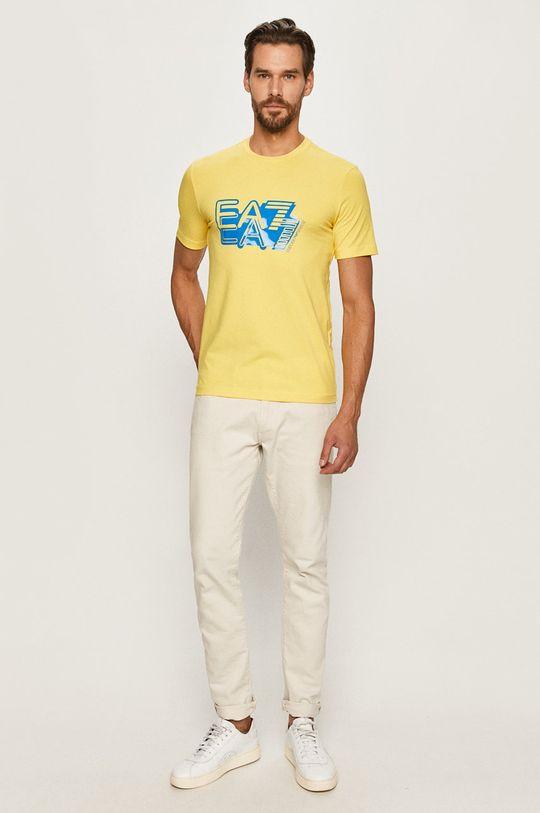 EA7 Emporio Armani - T-shirt żółty