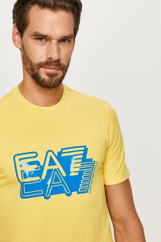 żółty EA7 Emporio Armani - T-shirt