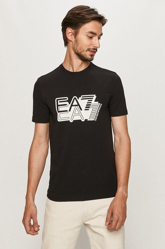 čierna EA7 Emporio Armani - Tričko