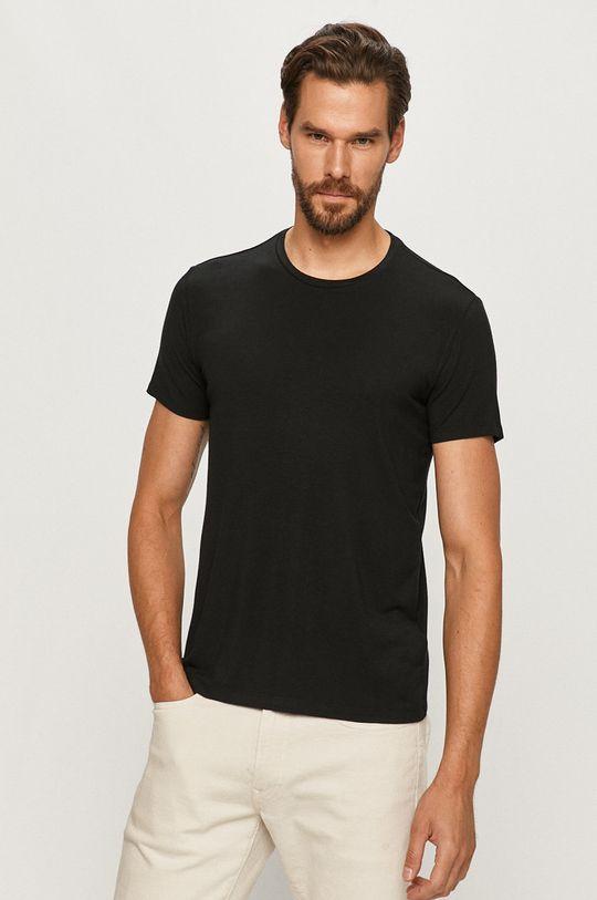 czarny Polo Ralph Lauren - T-shirt Męski