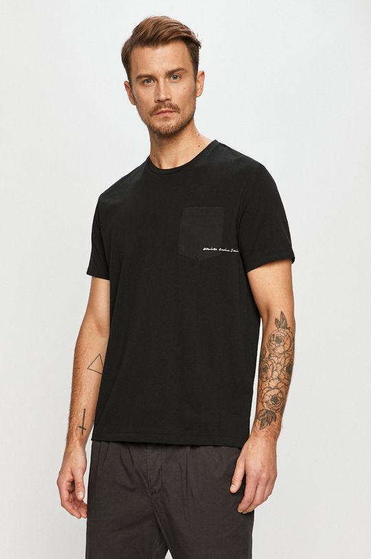negru AllSaints - Tricou De bărbați