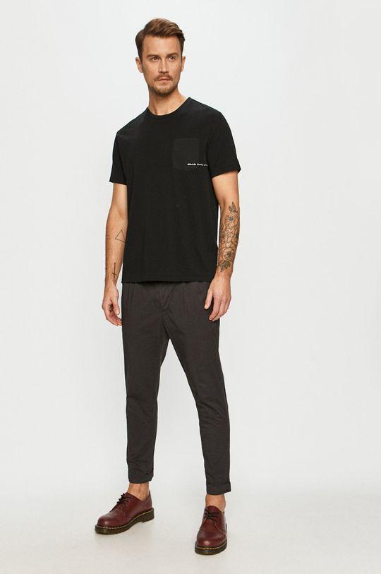 AllSaints - Tricou negru