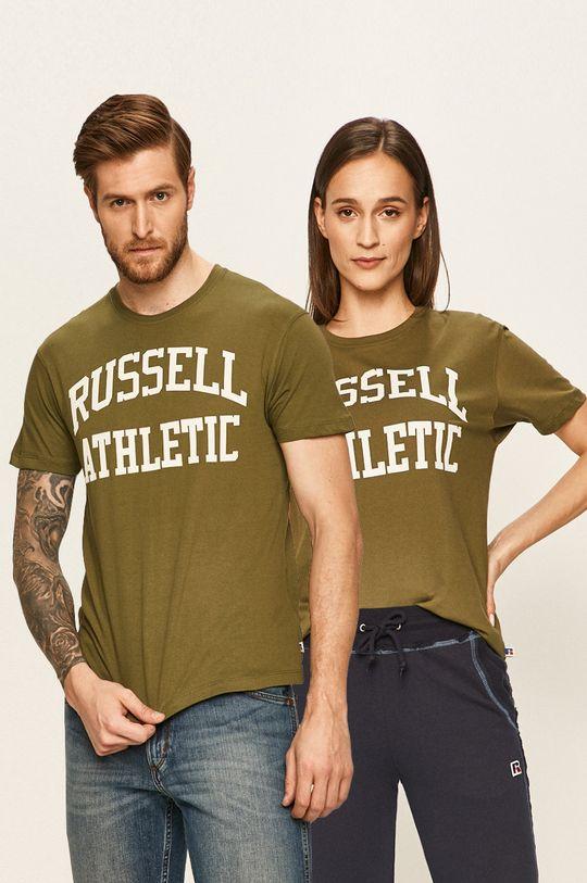 verde murdar Russel Athletic - Tricou Unisex