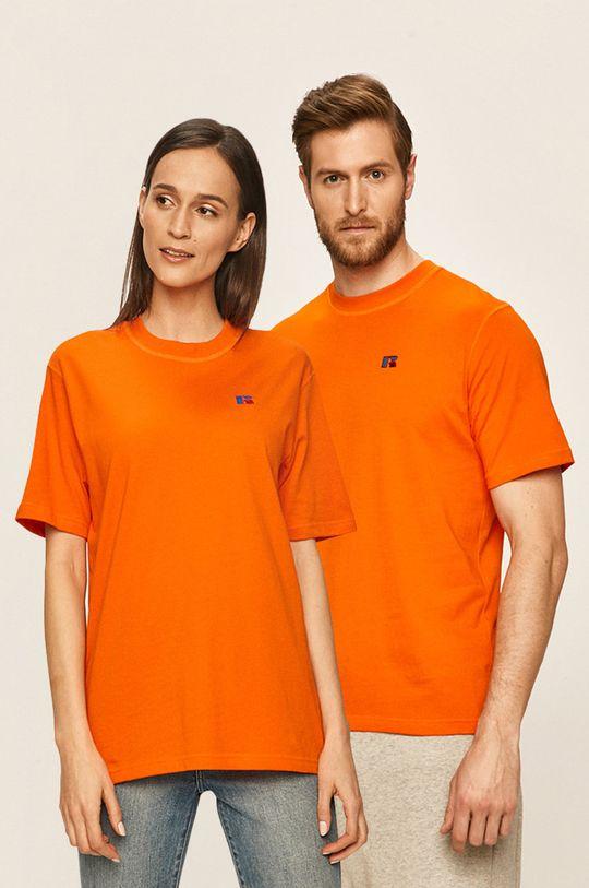 portocaliu Russel Athletic - Tricou Unisex