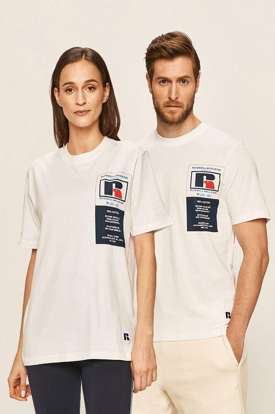 bílá Russell Athletic - Tričko Unisex