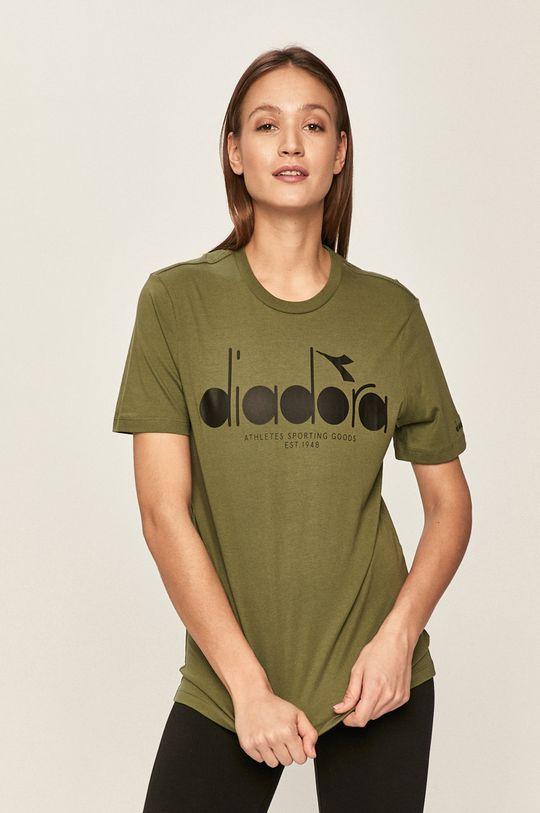 Diadora - Tricou verde murdar