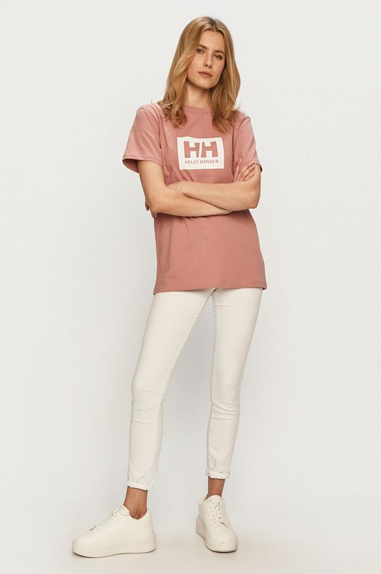 Helly Hansen - T-shirt brudny róż