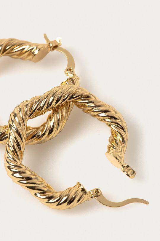 Pieces - Náušnice zlatá