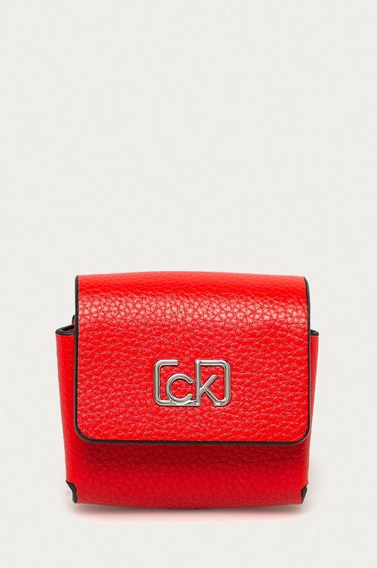 czerwony Calvin Klein - Etui na słuchawki Damski