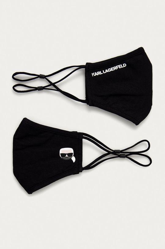 czarny Karl Lagerfeld - Maseczka ochronna (2-pack) Damski