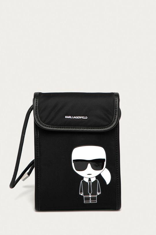 czarny Karl Lagerfeld - Etui na telefon Damski