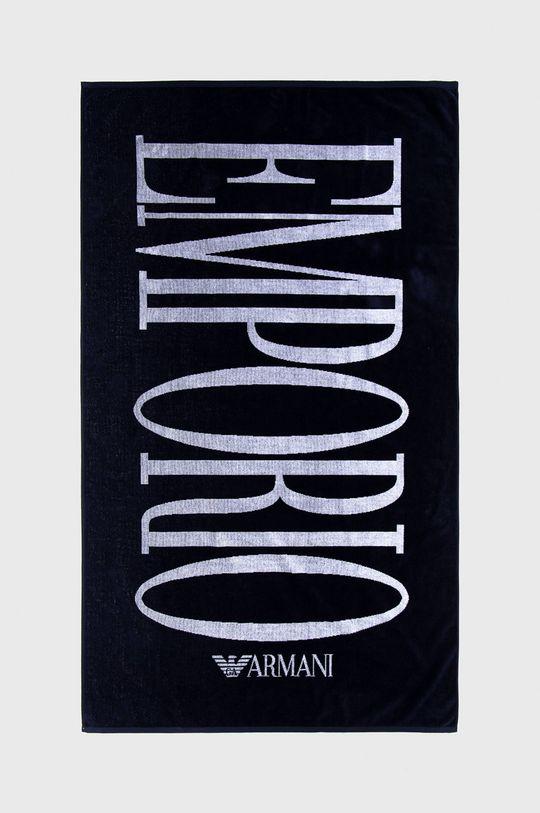 granatowy Emporio Armani - Ręcznik Damski