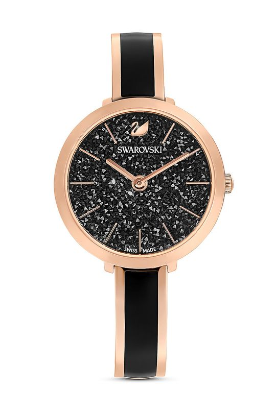 czarny Swarovski - Zegarek Crystalline Damski