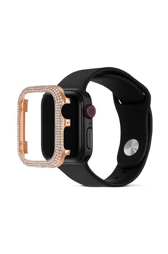 Swarovski - Etui Sparkling Apple Watch Cynk, Kryształ Swarovskiego, Srebro