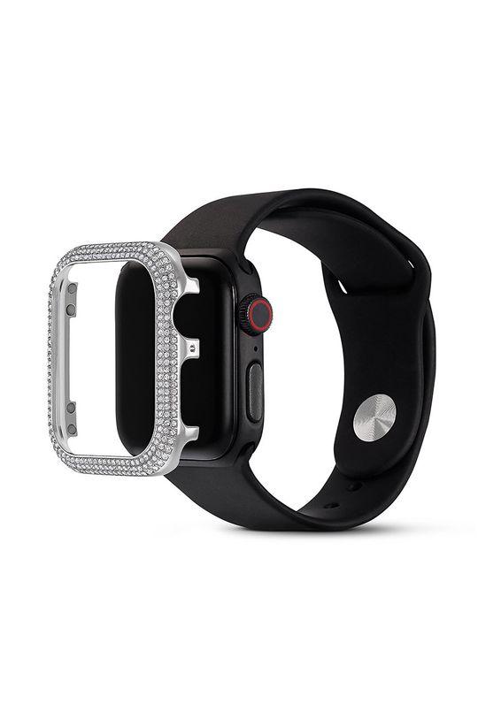 Swarovski - Puzdro Sparkling Apple Watch  Zinok, Kryštál Swarowski, Striebro