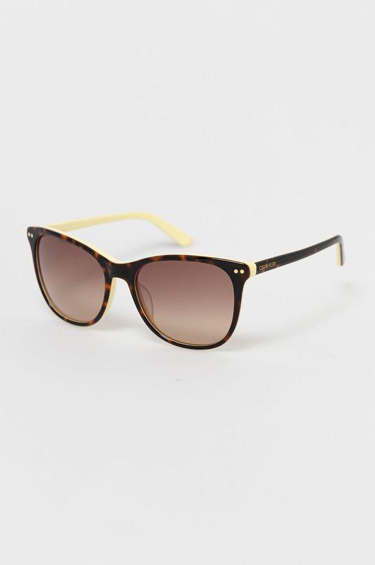 hnědá Calvin Klein - Sluneční brýle CK18510S.241 Dámský