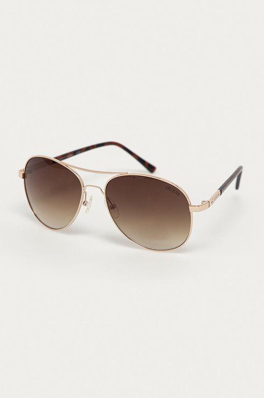 złoty Guess - Okulary przeciwsłoneczne GF0295 33F Damski
