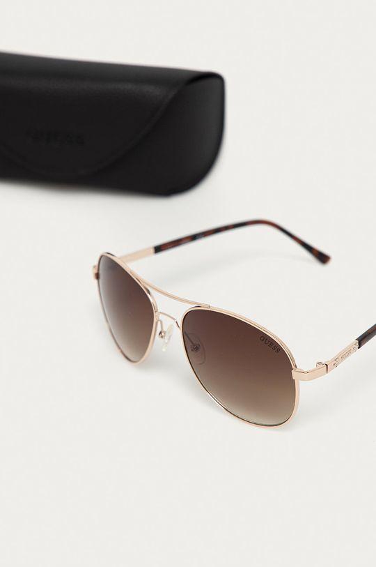 Guess - Okulary przeciwsłoneczne GF0295 33F Materiał syntetyczny, Metal