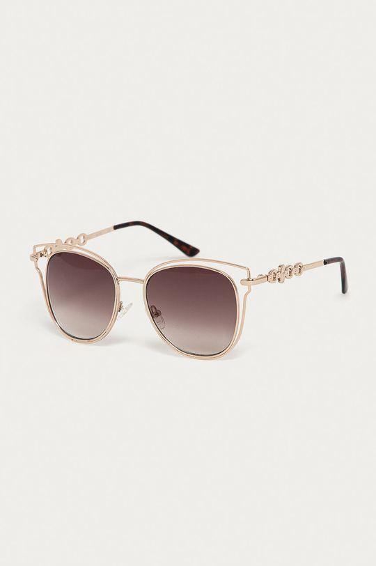 złoty Guess - Okulary przeciwsłoneczne GF0343 32F Damski