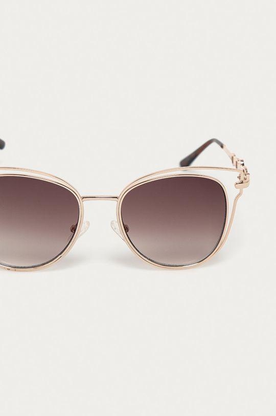 Guess - Okulary przeciwsłoneczne GF0343 32F złoty