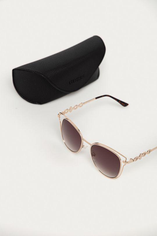 Guess - Okulary przeciwsłoneczne GF0343 32F Materiał syntetyczny, Metal
